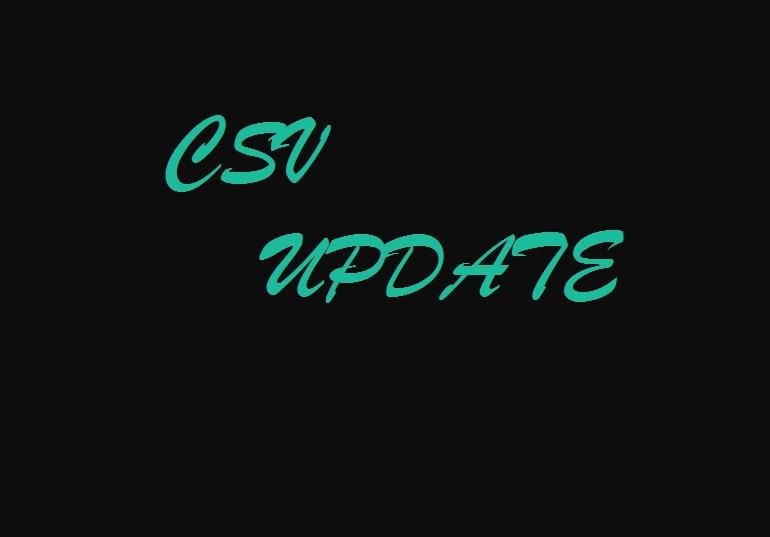csv update
